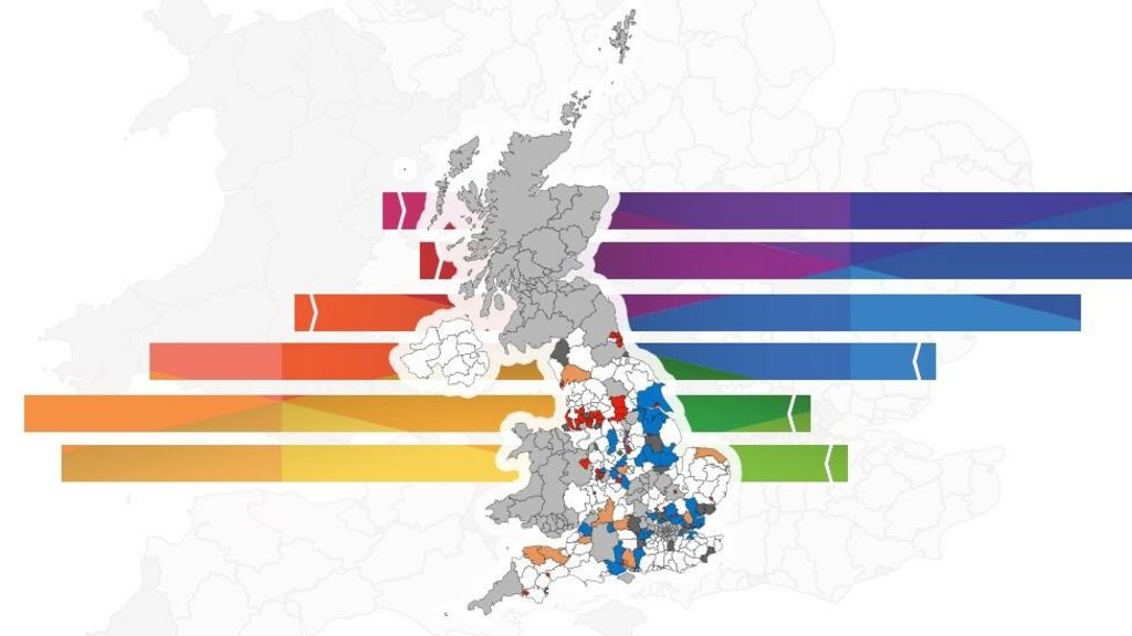 Map Of England With Counties And Major Cities.Local Elections Results In Maps And Charts Bbc News