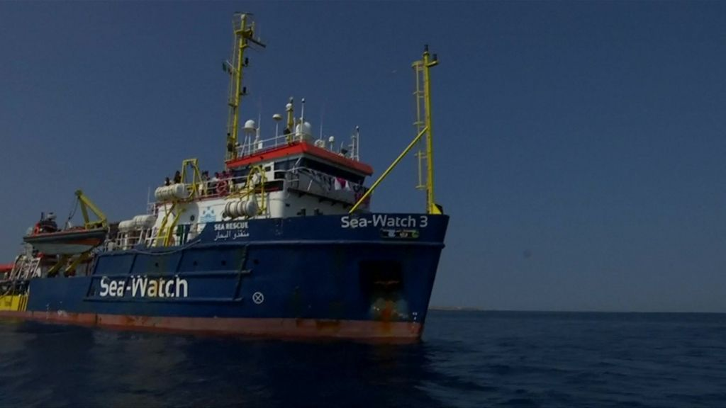 Italy Migrants Pressure Builds Over Lampedusa Rescue Ship Bbc News