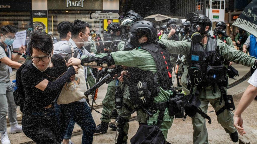 Hong Kong security law 'needed to tackle terrorism' - BBC News