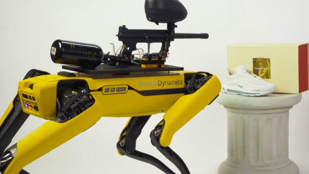 bbc.co.uk - Jane Wakefield - Spot: Boston Dynamics condemns robot paintball rampage plan