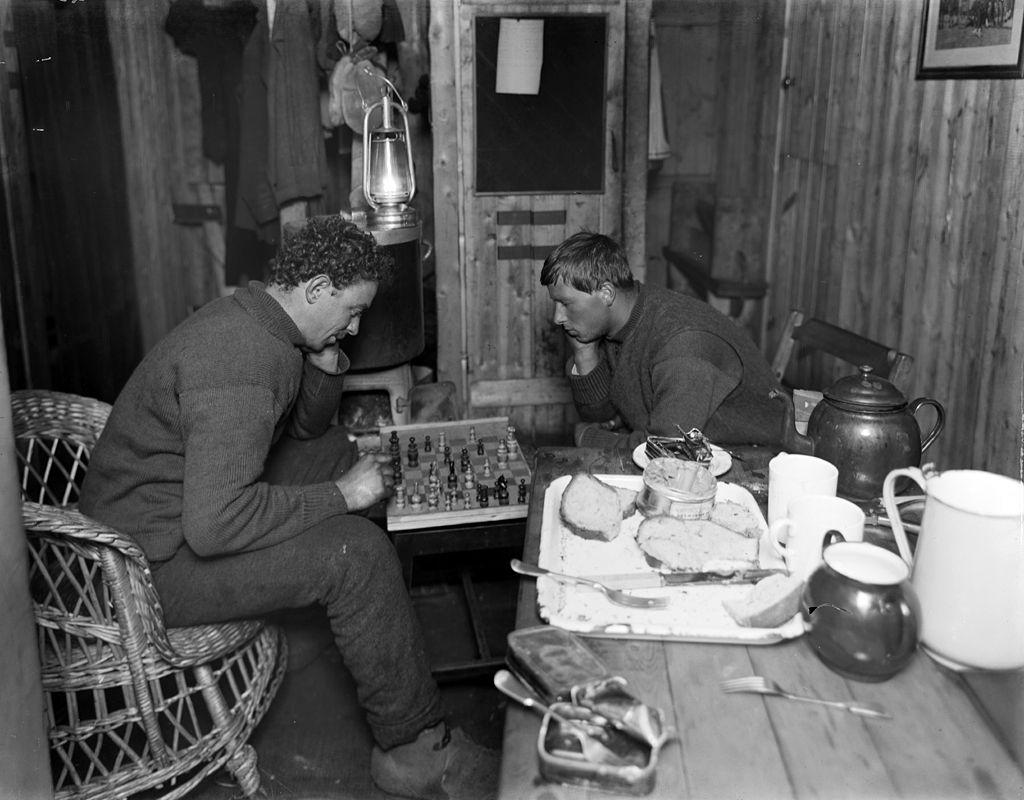 Playing chess on board Endurance