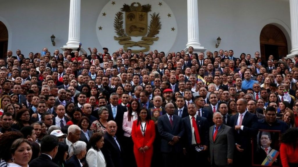 Disputed Venezuela assembly takes parliament's powers - BBC News