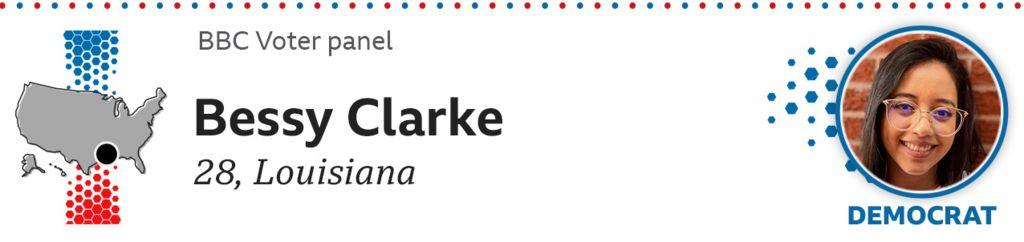 Bessy Clarke, 28, Louisiana, Democrat