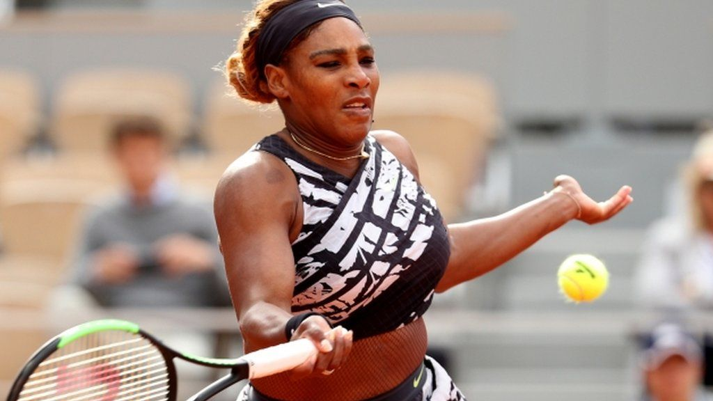 fba906da French Open: Serena Williams comes from behind to reach second round - BBC  Sport