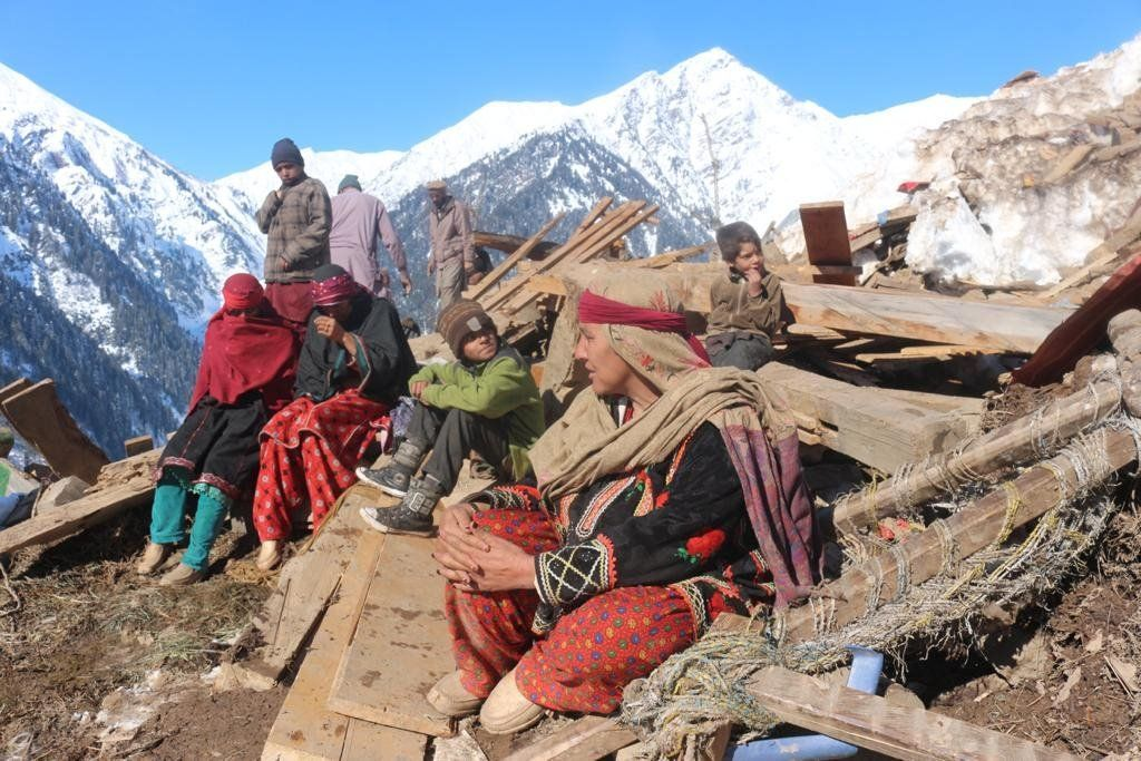 Villagers in Surgun in the Neelum Valley