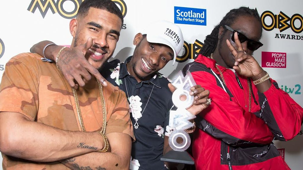 WSTRN pose with their erroneous Mobo award