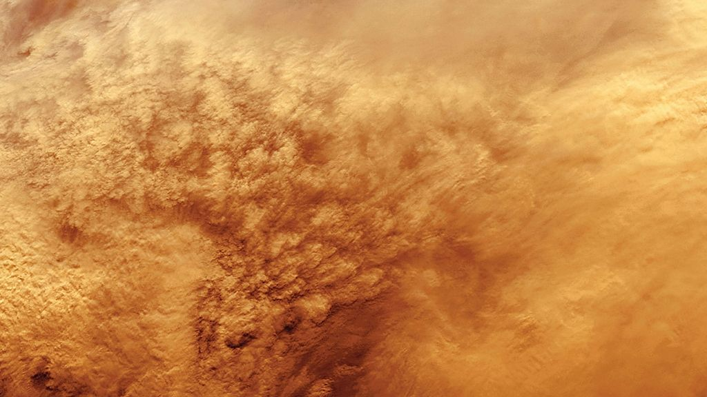 Global dust storm on Mars, 1977 (detail)