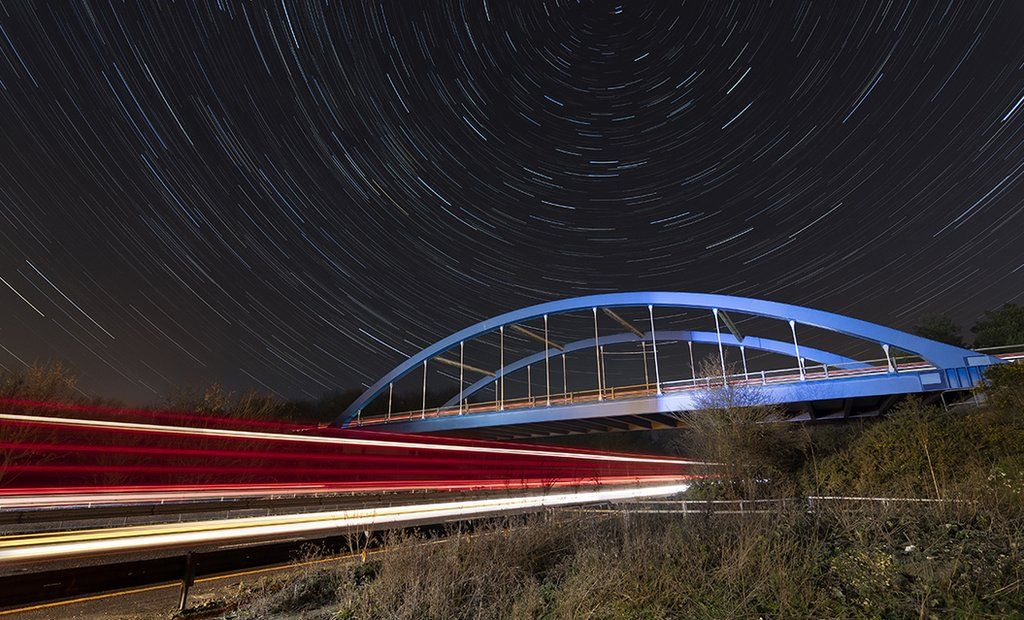Hasil gambar untuk Colchester photographer's light-painting photos 'transform town'