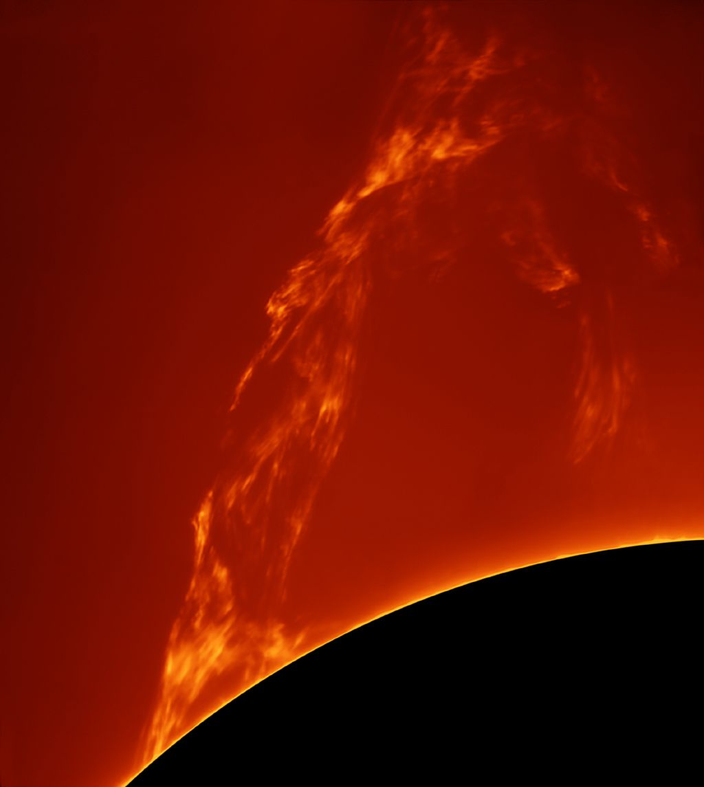 Huge Prominence Lift-off - by Paolo Porcellana (Our Sun, Winner)