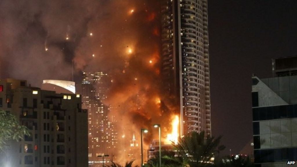 Fire engulfs dubai hotel ahead of new year celebrations for New hotels in dubai 2016