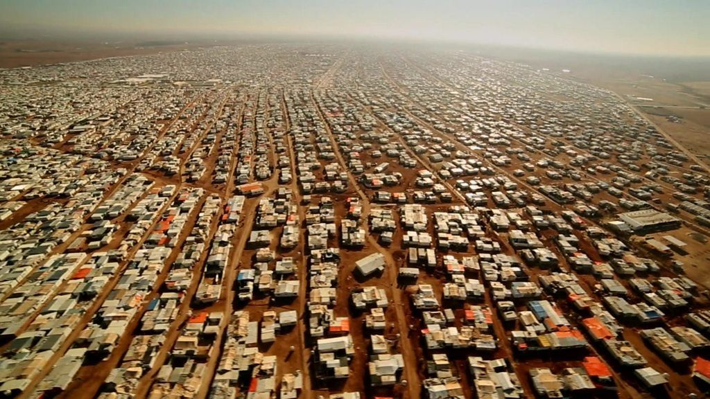 Syria Conflict Jordan S Zaatari Refugee Camp From The Air