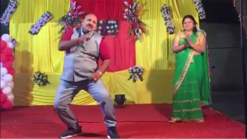 India's 'dancing uncle' who shot to viral fame - BBC News