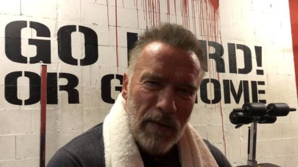 Schwarzenegger message helps inspire struggling fans - BBC News