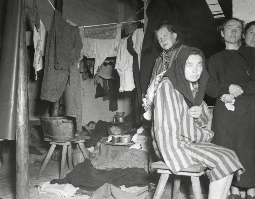 Women in Belsen hut