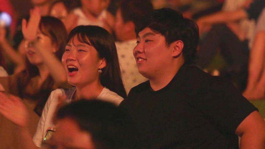 Korean border concert draws thousands