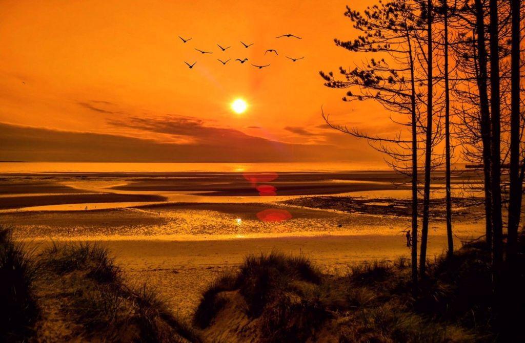 Dramatic sunset at Burghead Bay
