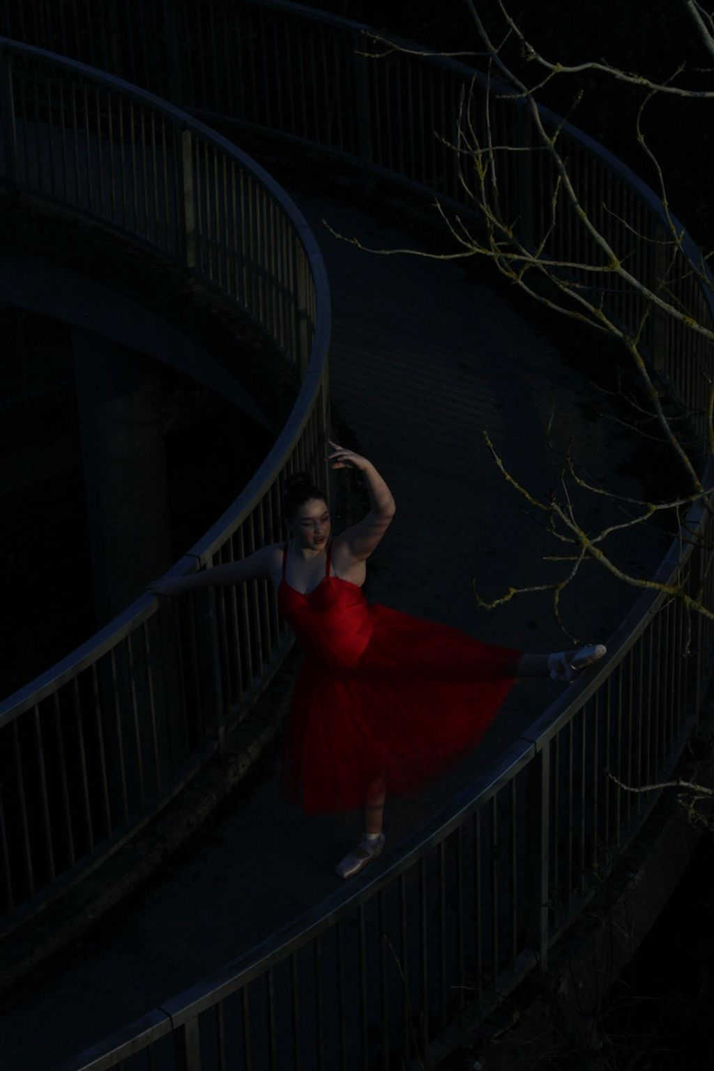 Woman leaping