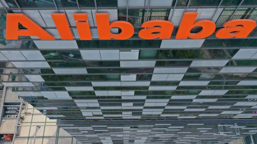 Sign on Alibaba headquarters in Hangzhou
