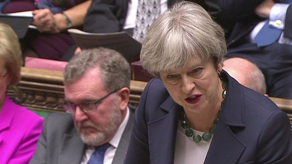 Bbc News Update: PMQs: Theresa May Asked For 'quick Update On Brexit
