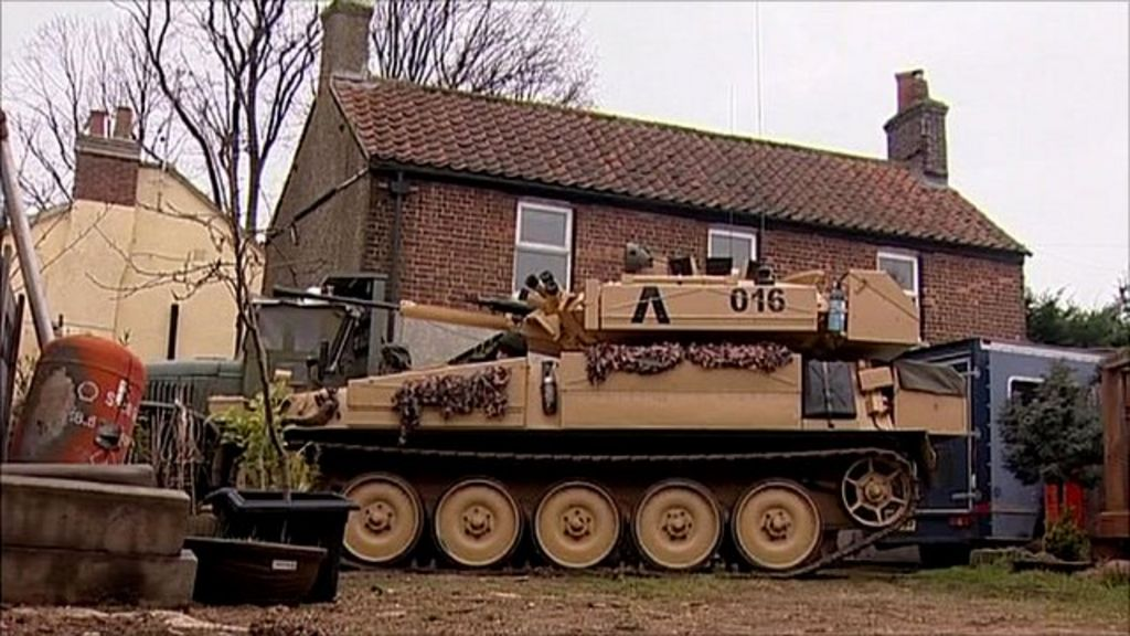 Shaun Mitchell explains why he likes to buy and restore old tanks, which he  drives around the streets of Norfolk