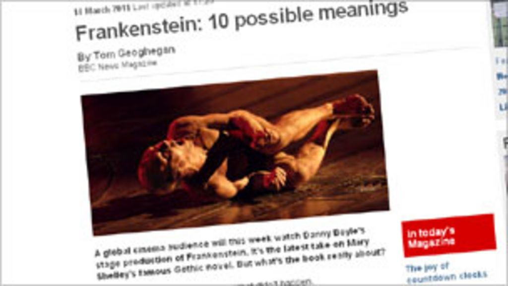 Readers' new meanings for Frankenstein