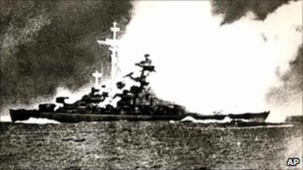 Bismarck Bombing Role Remembered Bbc News