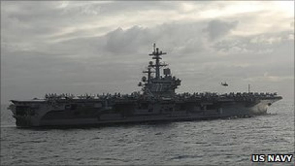 Uss George Hw Bush Aircraft Carrier Crew In Portsmouth Bbc News