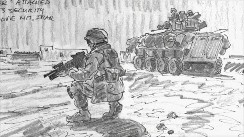 War artist draws US troops in Iraq and Afghanistan - BBC News