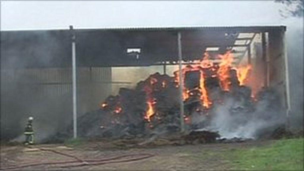 Somerset Home Farm barn fire destroys 200 tonnes of hay ...