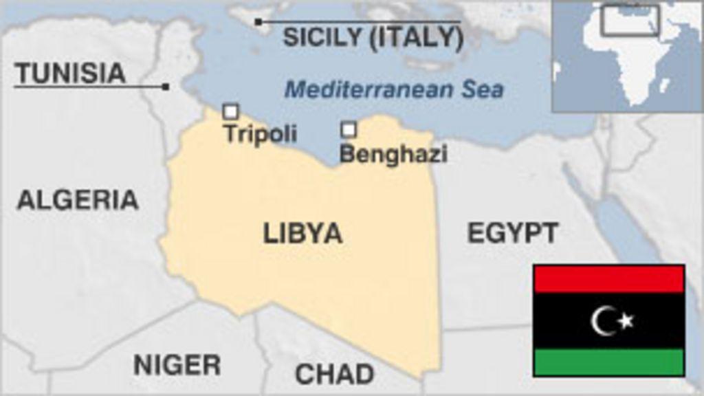 Libya On A World Map.Libya Country Profile Bbc News