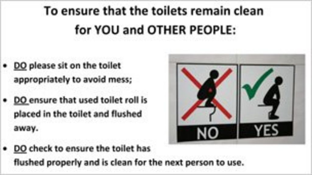 Swansea University Puts Up Toilet Instruction Posters