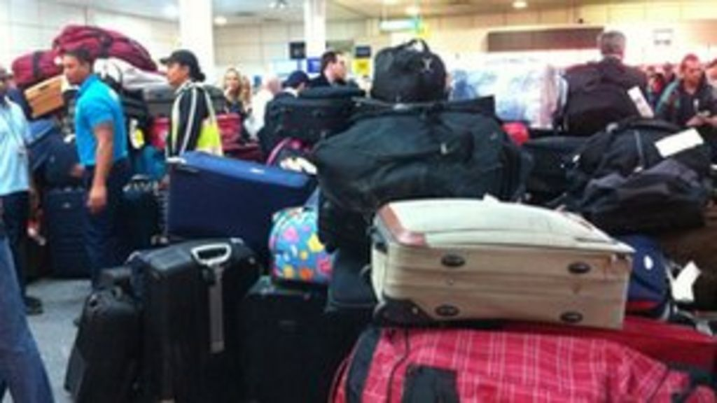 Grounded Gatwick luggage finds owners - BBC News