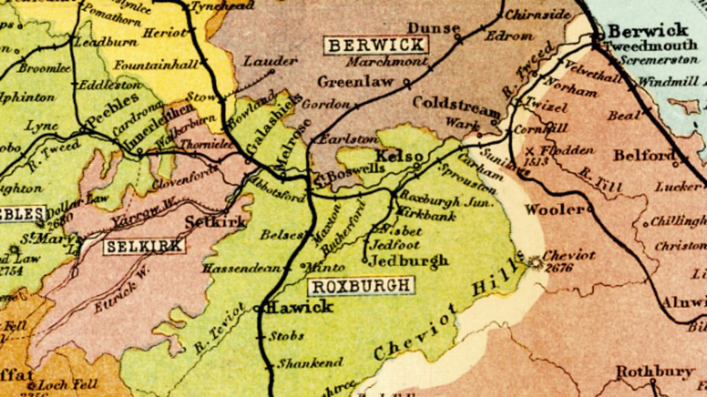 Section of railway map