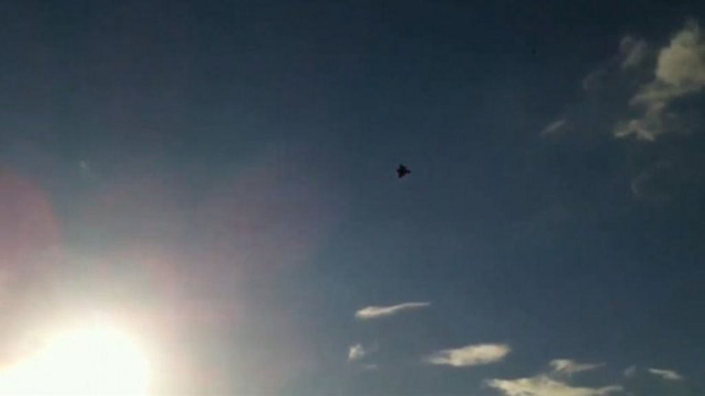 Bath resident Ric McLaughlin captured a sonic boom in 2012 when a Typhoon  jet was responding to an emergency call