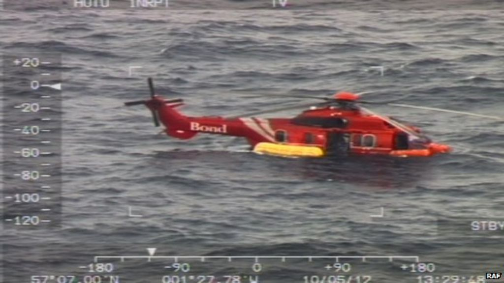 Flights suspended after North Sea helicopter ditches - BBC News 5f66bd3464
