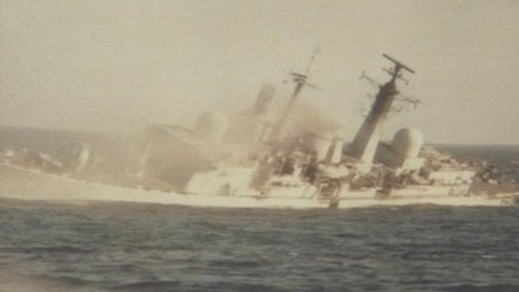 Image result for sinking of HMS Coventry