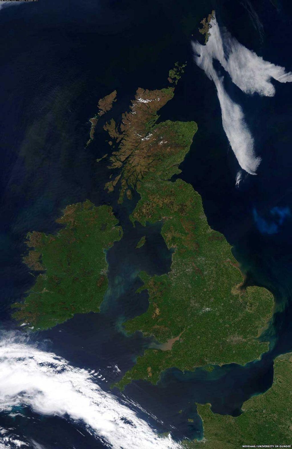 Satellite Image Shows Cloud Free Uk Bbc News