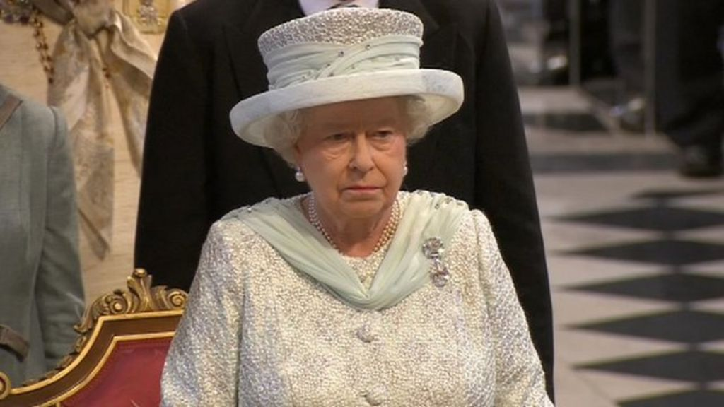 God Save the Queen sang by congregation at St Paul's service