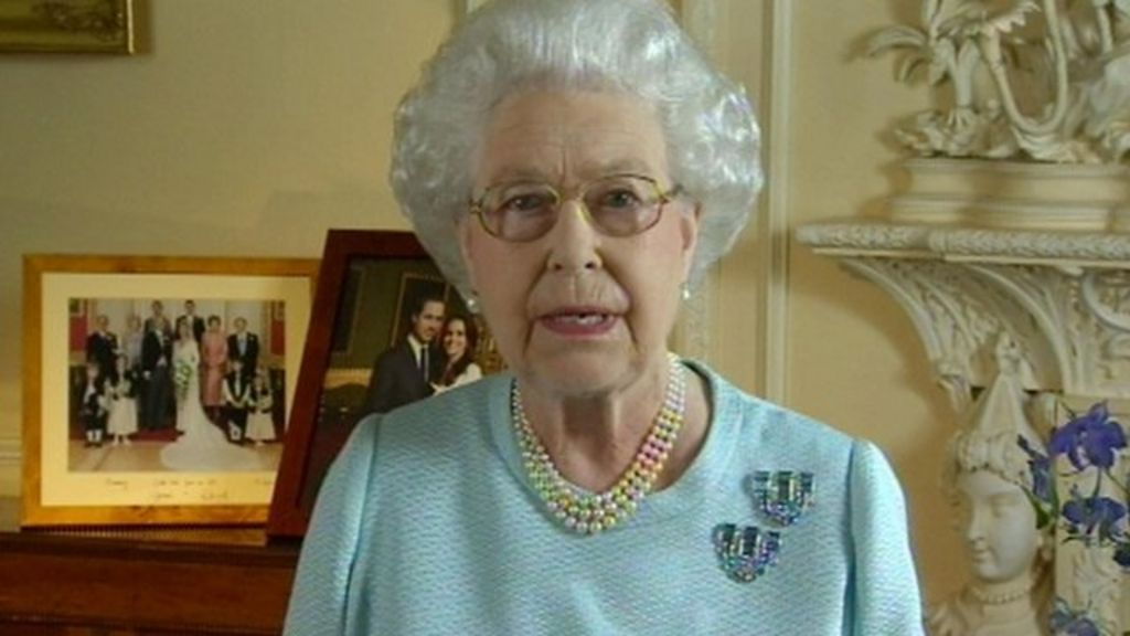 Four times the Queen has addressed the nation