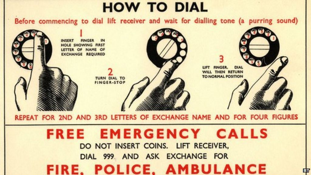 Image result for 999 emergency tele 1937