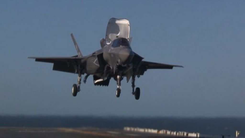 Uk Receives First F 35 Stealth Fighter Jet From Us Bbc News