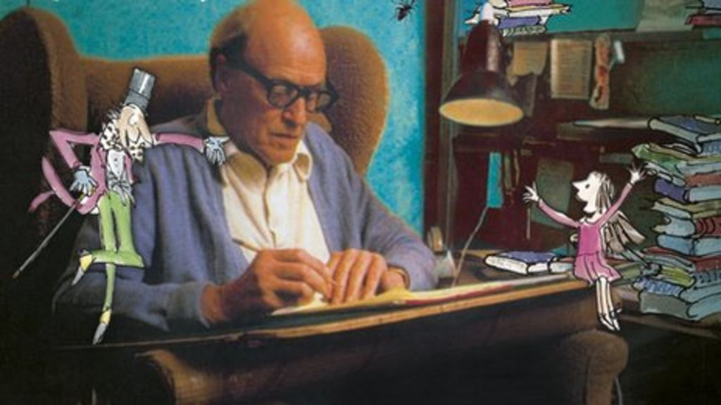 Image result for Roald Dahl writing
