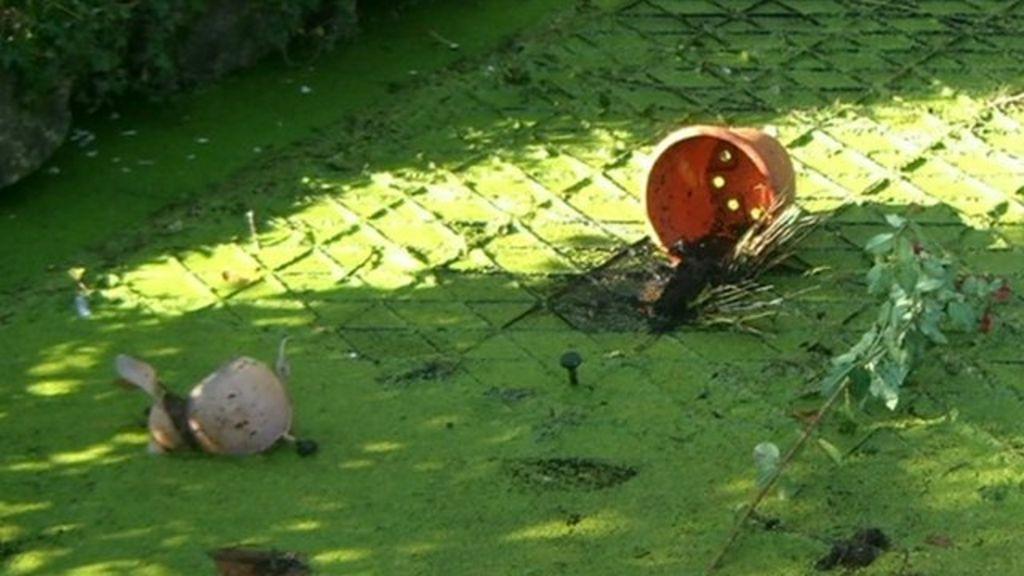 Vandalism at Haycombe Cemetery and Crematorium in Bath - BBC