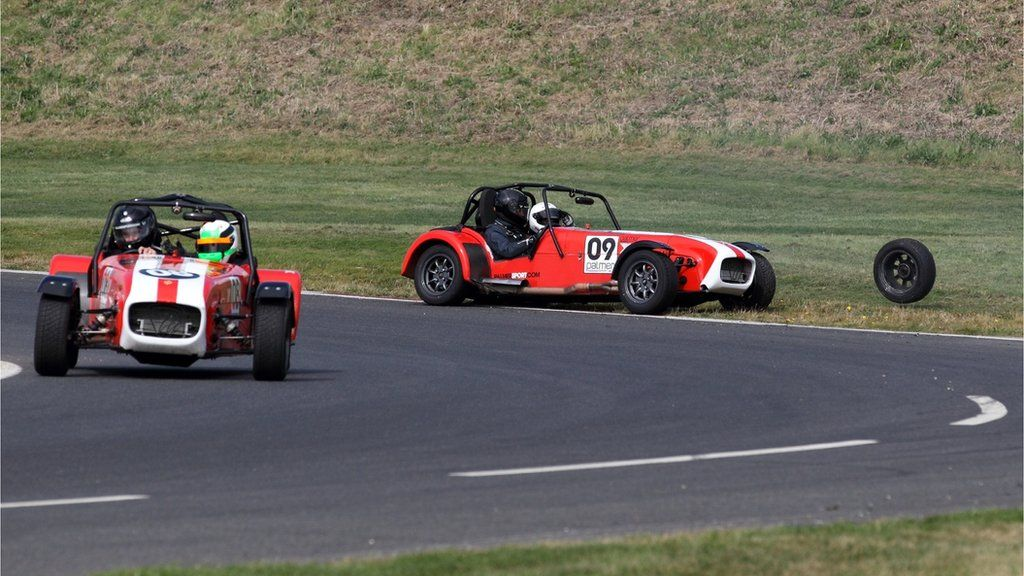 Lance Cunningham captured his friends Iain and Kenny from Fife, during a day out track racing.