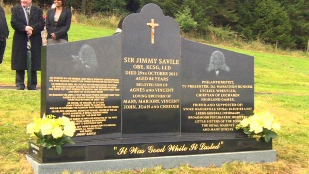 Jimmy Saviles Grave To Be Dismantled In Scarborough BBC