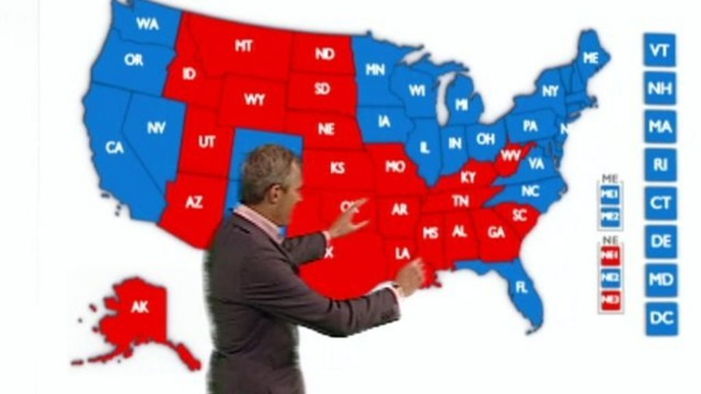 US Election Making Sense Of The Statistics BBC News - Bbc election map us