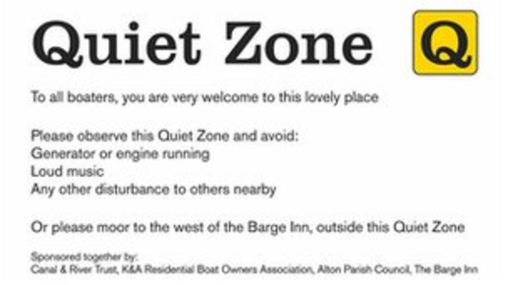 Quiet zone' created on canal through Wiltshire village - BBC