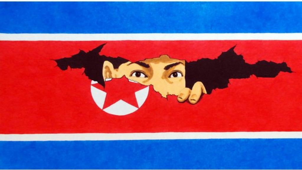 North Korean Propaganda Artist Song Byeok Turns Satirist Bbc News
