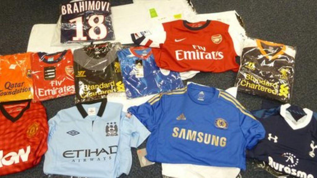 official photos e34a2 d7690 Berkshire postal depot seizes fake football shirts - BBC News