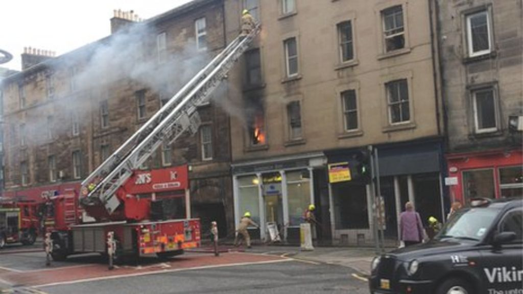 five people rescued from flat fire in fountainbridge. Black Bedroom Furniture Sets. Home Design Ideas